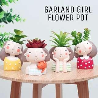 Garland Girl & Boy Pots