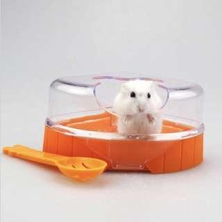 Hamster corner toilet sand bath free scooper