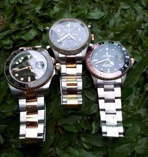 jam tangan Rolex 3 pcs