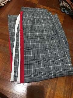 PS LA checkered pants with red and white strips