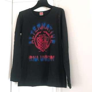 🇯🇵日牌 RNA Long Sleeves Top Tee 黑色長袖衫 上衣