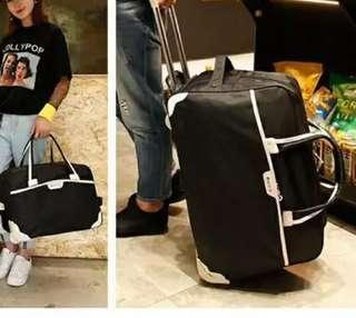 韓版牛津布18吋輕便軟行李箱