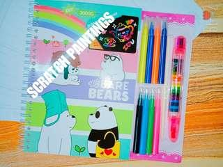 We Bare Bears SCRATCH PAINTINGS SET