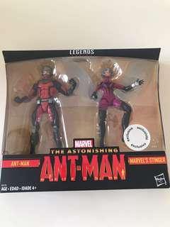 Marvel Legends Series Ant-Man and Marvel's Stinger. Toys R Us Exclusive