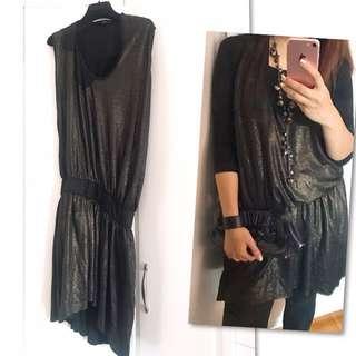 🇯🇵 日牌 Reac 暗閃金連身裙 Glitter Patched fabric one piece OP Dress