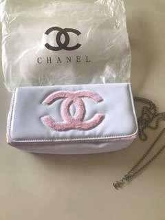 VIP Gift Chanel Pink/White Crossbody Bag. New never used