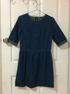 Denim Blue Skater Dress