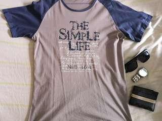 Tshirt simple life design