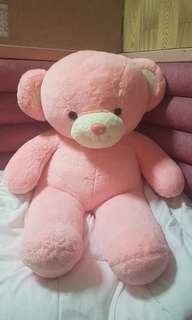 Huge pink stuffed bear to love