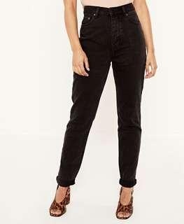 GLASSONS MOM JEANS in BLACK