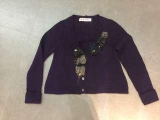 Marni purple cardigan