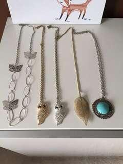 Assorted long necklaces