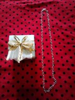 """925 silver linkheart necklace 18"""""""