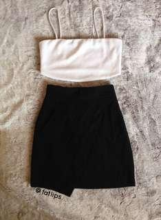 Korean asymmetrical skirt