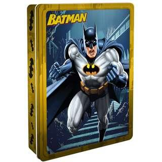 @(Brand New) Warner Bros Batman  [Happy Tin]  By: Parragon Books Ltd   (Plus a fantastic poster, 4 felt-tip pens and over 50 fun stickers.)