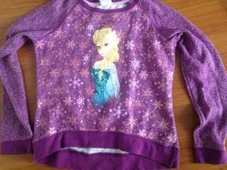 Disney Princess Elsa Of Frozen Sweatshirt Jacket