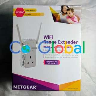 全新New NETGEAR Wi-Fi Range Extender Home Plug 1200 Mbps Wi-Fi Booster (EX6130-100UKS)