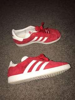 Adidas red gazelles