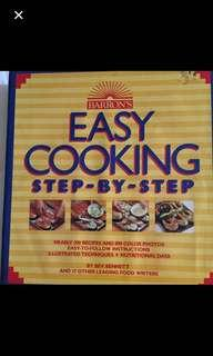 CLEARANCE SALES {Stationary - Cookbook} Barron's Easy Cooking Step-By-Step - by Bev Bennett and 17 other leading food writers