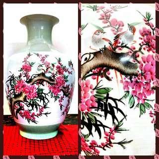 JingDeZhen Cherry Blossoms Porcelain Vase