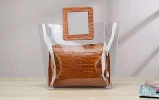 Brand New Transparent PVC Crocodile Bag