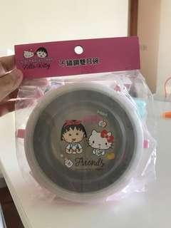 Hello Kitty x 小丸子不銹鋼雙耳碗
