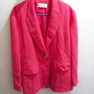 🚚 粉色西裝外套(實拍)
