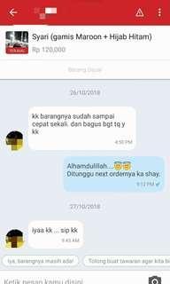 Alhamdulillah customer suka..  😇😇