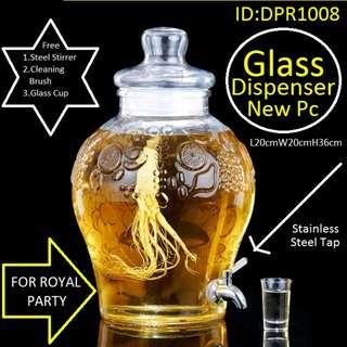 Palace Glass Dispenser For Royal Parties - Brand New - 10 Litres
