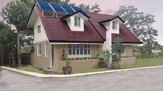 Affordable house and lot for sale with free solar energy power