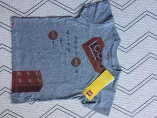 LEGO Uniqlo t-shirt graphic tee grey red new