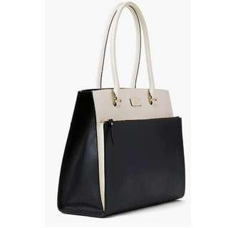 Authentic Kate Spade Grove Street Maeve in Black and Cement