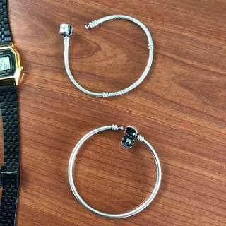 Used Pandora bracelet and bangle