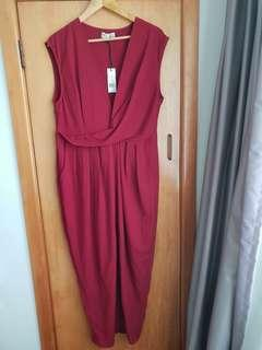 Wine red dress size 16