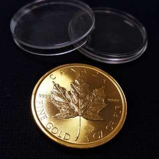 1安士 加拿大楓葉 金幣 9999足金