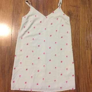 Cotton-on grey floral  sleeveless dress