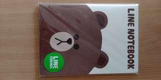LINE Brown notebook