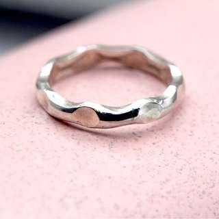 🚚 Flovy silver ring, plain ring, hammered ring, simple ring, tigarpaws, handmade ring, pr008