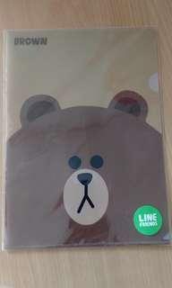 LINE Brown folder