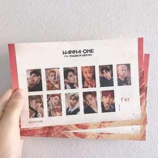 [wts] wanna one stamp sticker