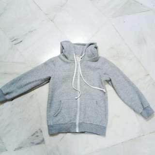 light grey hoodie jacket
