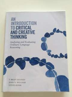 Intro to Critical and Creative Thinking (CTRW textbook)