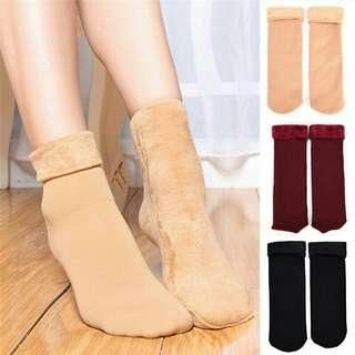Thick Breathable Winter Women Woollen Feel Home Snow Boots Cotton Female Socks