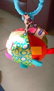 #xmas50 Rattle tagging toy with mirror