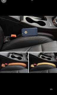 Car seat gap slit catch caddy
