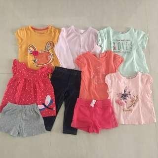 EUC Baby Girl Clothes (12-18m)