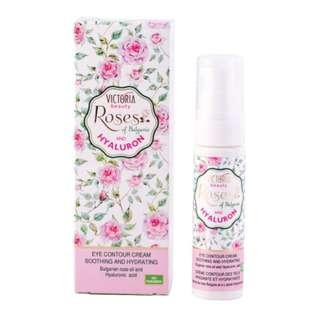 🌹現貨🌹保加利亞玫瑰玻尿酸保濕眼霜 (30ml) (Eye cream with rose oil and hyaluronic acid Roses of Bulgaria & Hyaluron Victoria Beauty)