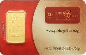 Public Gold Bar 20 gram