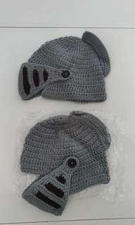 Knitted roman soldier cap/  hat / knight beanie