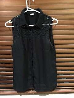 Black lace top size 10